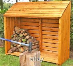 5x2 Logstore Stockage Firewood Rack Garden Patio Log Store Bois Bois Bois Bois Sec