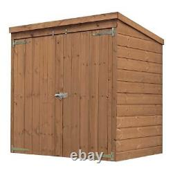 5x3 Jardin En Bois Mower Log Tool Store Shed Outdoor Storage Pent Roof 5ft 3ft