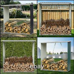 Acier Galvanisé Magasin De Bois De Bois Extérieur Magasin De Bois Métal Jardin De Feu Magasin De Bois Pent