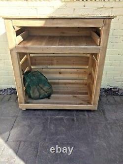 Best Wooden Log Store- 4 Pieds, Assemblé, Main Lourde Faite, Traitement Sous Pression