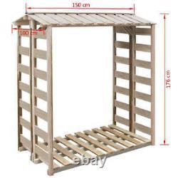 Bois De Jardin En Plein Air Logs Store Bois De Chauffage De Stockage Shed Patio Canopy House