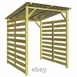 Bois Log Store Bois Bois Bois Extérieur Logs De Stockage Jardin Shed Toit Lourd