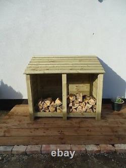 Bois Outdoor Log Store Fire Wood Store W-1460mm X H-1260mm X D-810mm Dégagement