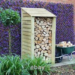 Burley 6ft Outdoor Wooden Log Store Également Disponible Avec Portes Uk Fait À La Main