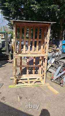 Caisse En Bois Massif De Haute Qualité En Bois Log Store 200cm De Haut Stockage En Bois De Chauffage