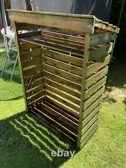 Charles Bentley Fsc Wooden Garden Petit Magasin De Billes Stockage De Bois De Chauffage Lourd