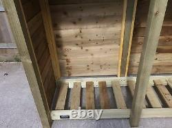 Cherrbrook 2m Large Outdoor Wooden Log Store Disponible Avec Portes Et Étagère