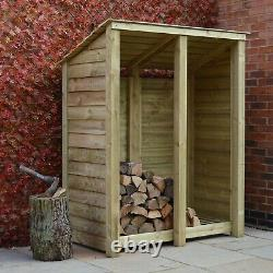 Cottesmore 6ft Outdoor Wooden Log Store Reversed Roof Uk Hand Made