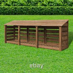 Empingham 4ft Log Store En Bois Également Disponible Avec Des Portes Faites À La Main Royaume-uni