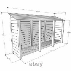Empingham 6ft Log Store En Bois Également Disponible Avec Des Portes Faites À La Main Royaume-uni