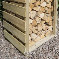 Entreposage De Rondins En Bois Naturel Magasin De Bois Extérieur Shed Tall Firewood Garden