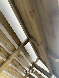 Fabriqué À La Main De Haute Qualité, X-large Wooden Log / Wood Store, Livré Et Installé