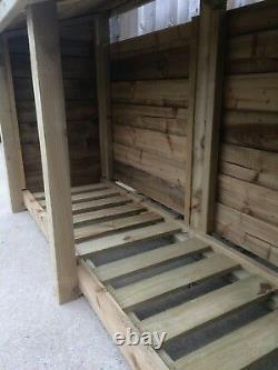 Foxworthy 8ft Large Magasin Extérieur En Bois En Rondins Disponibles Avec Portes Et Étagère