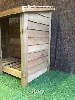 Gidleigh 4ft Tall Outdoor Wooden Log Store