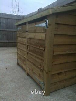 Gidleigh 5ft Large Outdoor Wooden Log Store Disponible Avec Portes Et Étagère