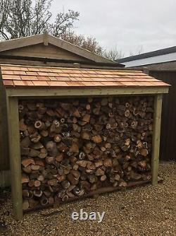 Grande Pression Lourde Traitée En Bois Log Store Top Qualité