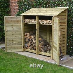 Hambleton 6ft Log Store En Bois Également Disponible Avec Des Portes Faites À La Main Au Royaume-uni