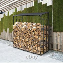 Haut De Gamme 6.1 Ft Tall Single Bay Log Store Rack Firewood Shelter Outside