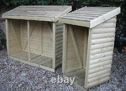 Journal De Bord Lourd Loglap Bois Log / Wood Store / Shed Top Quality
