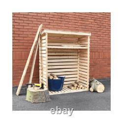 Kingfisher Wooden Log Store Entreposage Extérieur Du Bois De Chauffage