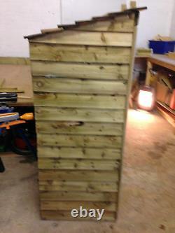 Large Wooden Log Assembled, Avec Étagères D'allumage, Bois Tanalisé