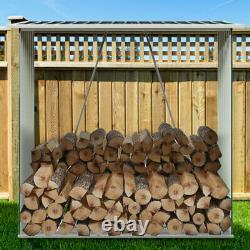 Logs En Bois Vert Magasin De Bois Bois De Chauffage Jardin Extérieur Logs De Stockage Shed Avec Toit