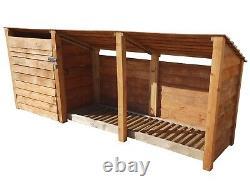 Magasin D'outils Et Log Store Wooden Garden W-3350mm X H-1260mm / 1800mm X D-810mmm