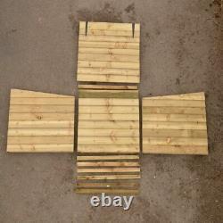 Magasin De Bois Avec Couvercle De Levage, 92 X 90 X 90cm, Rangement Extérieur De Jardin