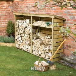 Magasin De Rondins Traités Sous Pression Logstores En Bois New Un Used Wood Logstore 7ft X 2ft