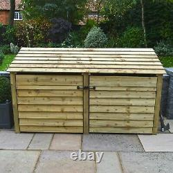 Normanton 4ft Log Store En Bois Également Disponible Avec Des Portes Faites À La Main Au Royaume-uni
