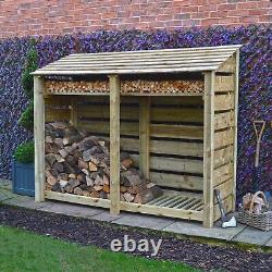 Normanton 6ft Wooden Log Store Également Disponible Avec Portes Uk Hand Made