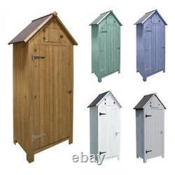 Premium Beach Hut Garden Boîte D'entrée En Bois Outil De Stockage Extérieur Shed Log Store
