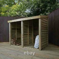 Pression En Bois Traitée Double Log Store 3x6 Stockage Timber Garden Pent 3ft 6ft