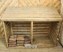 Pression Traitée 6x3 Log Store Bois Double Logstore Grand Bois 6ft X 3ft