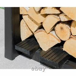 Rowlinson Black Apex Wooden Log Store Extérieur Résistant À L'eau Toute L'année