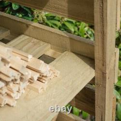 Rowlinson Narrow Wood Log Magasin De Bois Étagère De Kindling Jardin Entreposage