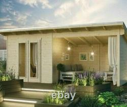Rowlinson Oasis Log Cabin Summerhouse Garden Office Room Store Chalet En Bois Nouveau