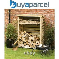 Rowlinson Small Wooden Log Wood Store Kindling Shelf Garden Storage