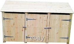 Skiny Wooden Triple Log Store / Tool Store 4ft Et 6 Ft Extérieur