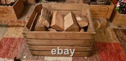 Store Log / Fire Wood Storage / Fireplace Kindling Box, Old Wooden Apple Crate