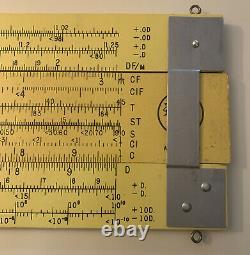Vintage 4 Wooden Pickett Slide Rule Store Display Sign Advertising N4-es Log394