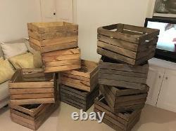 Vintage Buoden Apple Fruit Crates X 6 Magasin De Bois De Magasin De Bois Brûleur De Bois
