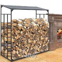 Wood Store Heavy Duty Metal Log Store Cheminée Jardin Bois De Chauffage Stockage